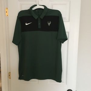 Nike Dri Fit Milwaukee Bucks Shooting Shirt